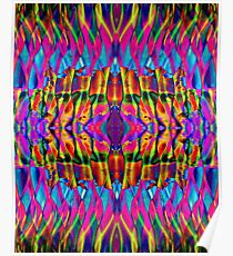 Time is but a psychedelic ripple in the fabric of existence Poster