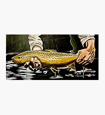 North Platte Brown - Trout Painting Photographic Print