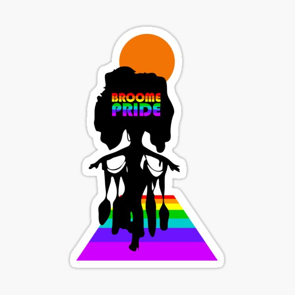 Broome Pride Stepping Out – Rainbow Logo Sticker