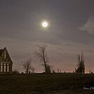 Moon Lit Cemetery by Stevej46