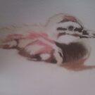 Duck in pastels by cherie  vize