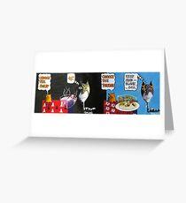 Martian Rocket and Caravan Jam Mash Greeting Card