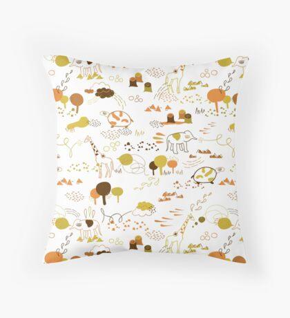 Animal Pattern Series – Safari Wildlife Throw Pillow