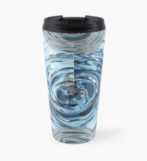 CRazy Oil PaintinG Blue/Grey Glass Travel Mug