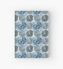 CRazy Oil PaintinG Blue/Grey Glass Hardcover Journal