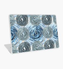 CRazy Oil PaintinG Blue/Grey Glass Laptop Skin