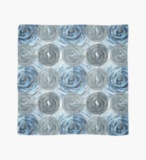CRazy Oil PaintinG Blue/Grey Glass Scarf