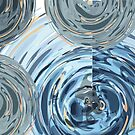 CRazy Oil PaintinG Blue/Grey Glass by uniiunMB