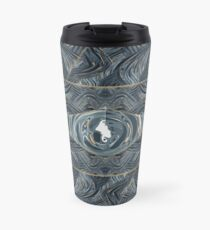 CRazy Oil PaintinG Blue/Grey Eye Travel Mug