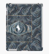 CRazy Oil PaintinG Blue/Grey Eye iPad Case/Skin