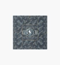 CRazy Oil PaintinG Blue/Grey Eye Art Board Print