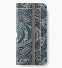 CRazy Oil PaintinG Blue/Grey Eye iPhone Wallet/Case/Skin
