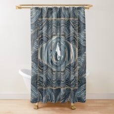 CRazy Oil PaintinG Blue/Grey Eye Shower Curtain