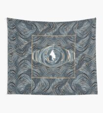 CRazy Oil PaintinG Blue/Grey Eye Wall Tapestry