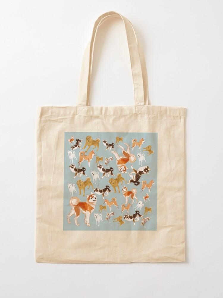 Alternate view of Japanese Dog Breeds blue Tote Bag