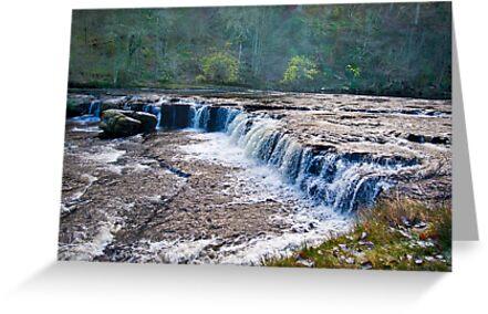 The Upper Falls - Aysgarth. by Trevor Kersley