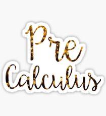 Pre-Calculus Sticker