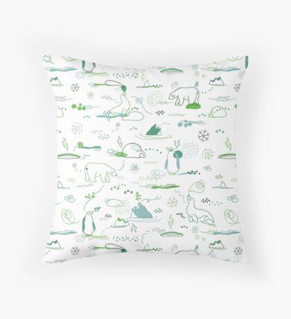 Animal Pattern Series – Arctic Creatures Throw Pillow