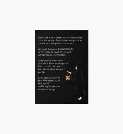 The Light of Knowledge Art Board Print