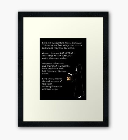The Light of Knowledge Framed Print