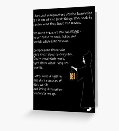 The Light of Knowledge Greeting Card