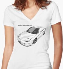 PGT (Left Text) Women's Fitted V-Neck T-Shirt