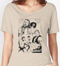 Puroresu Comic - Bruiser Brody, Stan Hansen, Antonio Inoki Women's Relaxed Fit T-Shirt