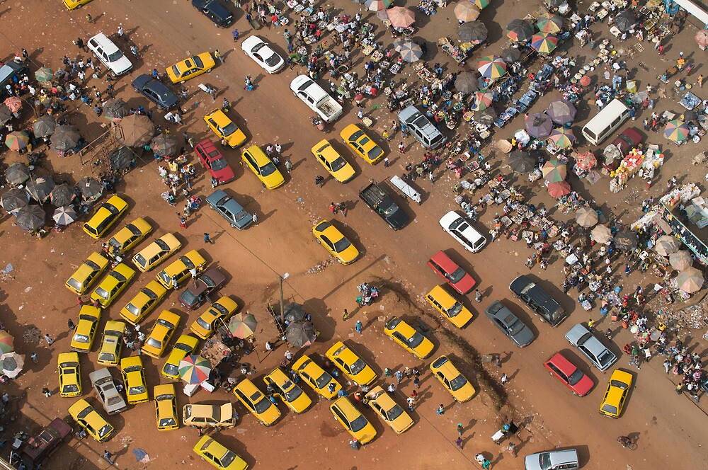 Red Light junction in Monrovia, Liberia by Christopher Herwig