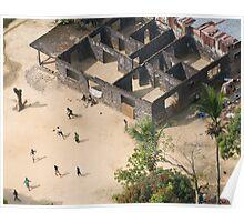 Football game in Monrovia, Liberia Poster