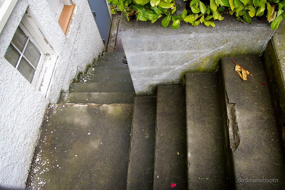 down the outside staircase by dedmanshootn