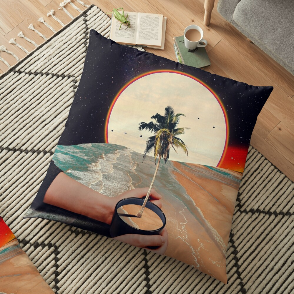 A Cup Of Sunshine Floor Pillow