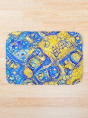Yellow and Blue abstraction Bath Mat