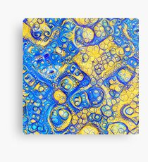 Yellow and Blue abstraction Metal Print