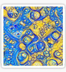 Yellow and Blue abstraction Glossy Sticker
