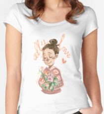 All the Love, H Women's Fitted Scoop T-Shirt