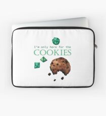 I'm only here for the cookies and dice - green Laptop Sleeve