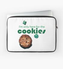 I'm only here for the cookies and dice Laptop Sleeve