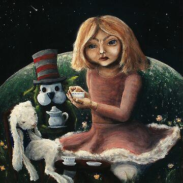 Bunny Tea Party by lenastahl