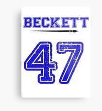 Beckett 47 Jersey Metal Print