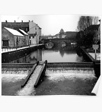 Haverfordwest, Weir in Winter Poster