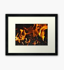 Open Fire Framed Print