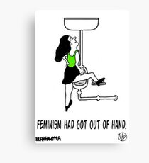 Crazy Feminist. Canvas Print