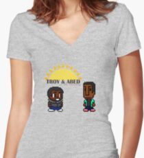 Troy and Abed in the mooooorning! Women's Fitted V-Neck T-Shirt