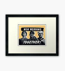 Men Working Together -- World War Two Framed Print