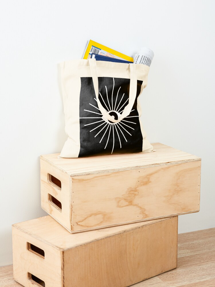 Alternate view of Electric Eyes - Black and White Tote Bag
