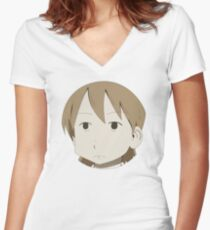 Yuuko is not amused Women's Fitted V-Neck T-Shirt