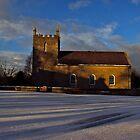 Golden Light - Kilmore Church of Ireland, Cultra, County Down. by Laura Butler