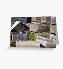 Crates & Flowers Greeting Card