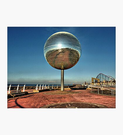 Giant Glitter Ball . Photographic Print