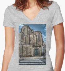 St. Francis Church Women's Fitted V-Neck T-Shirt